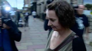 Pauline Cafferkey leaves the Nursing and Midwifery Council hearing in Edinburgh