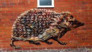 Hedgehog painting by ATM
