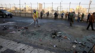 محل انفجار در بغداد