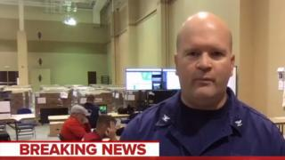 MSNBC interviewed Coast Guard Commanding Officer Capt John Reed