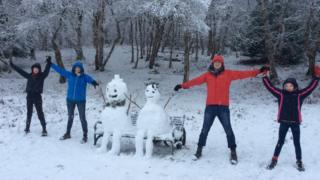Snowmen on Barloch Moor, Milngavie