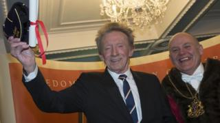 Denis Law gets Freedom of Aberdeen