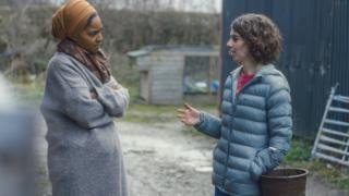 Nadiya Hussain talking with Laura Bartley