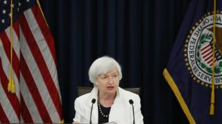 Federal Reserve Chair Janet Yellen speaks to reporters after the Fed's two-day September meeting