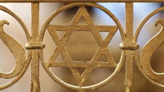 A Star of David at the Brodyer Synagogue in Leipzig, Germany (2010)