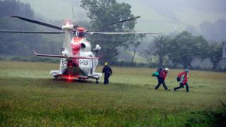 A Coastguard rescue helicopter