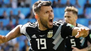 Aguero celebrates