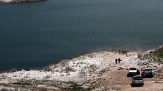 Potrerillos lake in Argentina where MTV helicopter crashed, 13 December 2015