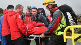 Mourne Mountain rescue operation on Wednesday 2 August