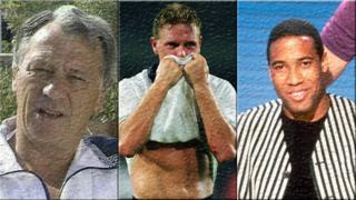 Bobby Robson, Paul Gascoigne and John Barnes