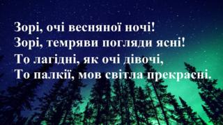 """Леся Українка """"Зорі, очі весняної ночі!"""""""