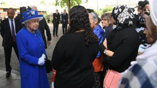 The Queen meets Grenfell residents