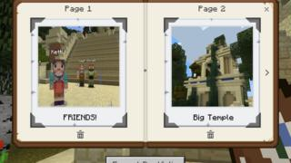 Screen shot from Minecraft lesson