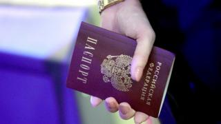 Russian woman's passport, file pic - 15 Jan 19