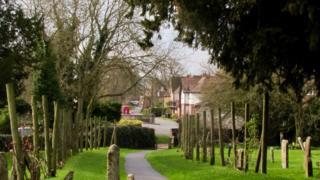 Dorchester Abbey grounds