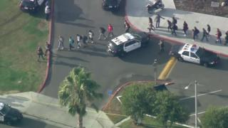 The school, and other schools nearby, have been placed on lockdown
