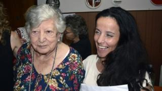 "Maria ""Chicha"" Mariani (left) and the woman mistakenly identified as Clara Anahi Teruggi - 24 December 2015"