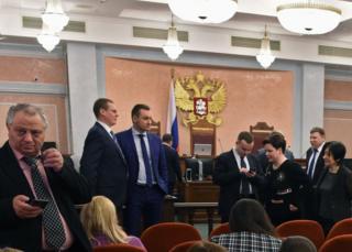 Audiencia en la Corte Suprema de Moscú, el 20 de abril de 2017.