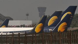 Jet Airways tail fins