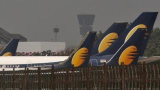 Jet Airways tail fins