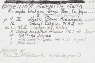 Bugeilio'r Gwenith Gwyn
