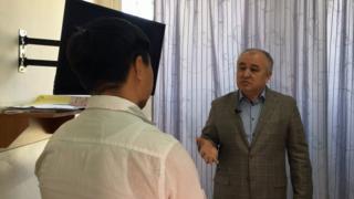 Текебаев жана журналист