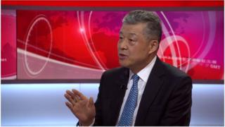 中国驻英大使刘晓明接受BBC专访时称中国中央政府未指示香港修例。