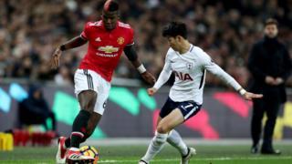 Paul Pogba, dont la performance contre Tottenham n'a pas été satisfaisante mercredi a été remplacé.