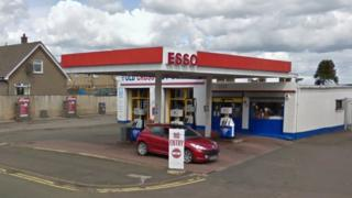 Esso service station on Drygate Road