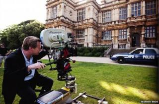 Filming for Dark Knight Rises at Wollaton Hall