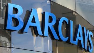 Barclays logo on building