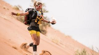 Sophie Raworth running the Marathon des Sables