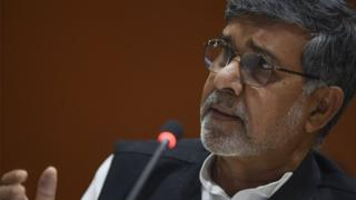 Bachpan Bachao Andolan Founder Kailash Satyarthi speaks on September 18, 2016 in New York City