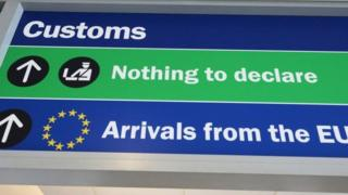 Customs sign