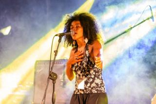 The songwriter Jerusa Barros performs during the Beat Full Festival at Palermo, 03 September 2019