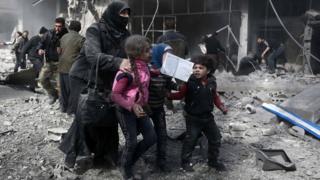 Children in Eastern Ghouta