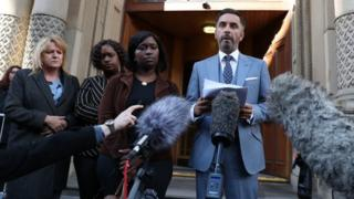 Lawyer Aamer Anwar outside the Crown Office