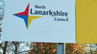 North Lanarkshire Council sign