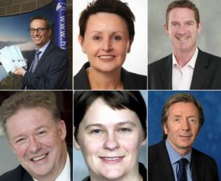 (Clockwise from top left) Highland Council's Steve Barron, Glasgow's Annemarie O'Donnell, Fife Council's Steve Grimmond, Andrew Kerr, of Edinburgh Council, Aberdeen's Angela Scott and Lindsay Freeland, of South Lanarkshire.