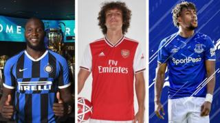 Romelu Lukaku, David Luiz ati Alex Iwobi