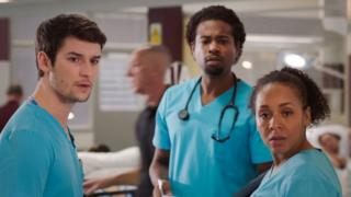 Cast from BBC medical drama Holby City