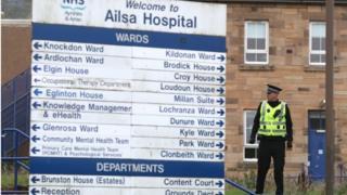 Police outside Ailsa Hospital