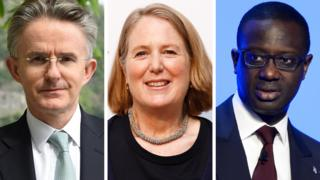 John Flint (left), Diane Greene (centre) and Tidjane Thiam are among those to withdraw from next week's event