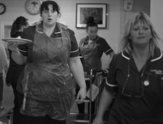 Nurses in Cardiff.