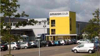 Amazon UK's carpark