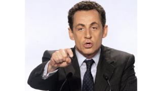 Nicolas Sarkozy lors de son dernier meeting de campagne en 2007