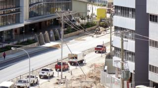 A Chinese-funded road work project in Port Moresby