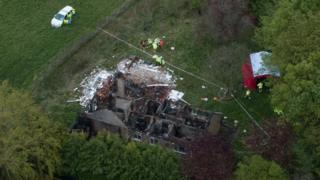 Bungalow damaged by gas explosion