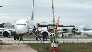 Ryanair bomb scare plane diverted to Stansted