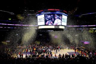 Last Night for Kobe Bryant at the Staple centre in Los Angeles, America.